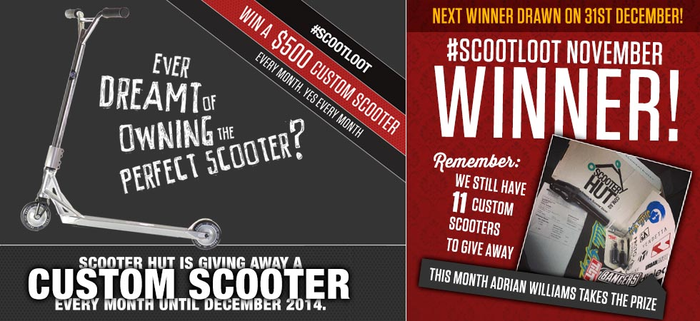 Win a custom scooter